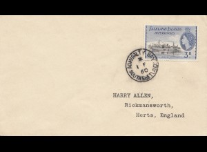 Falkland Islands: 1960 to Herts/England