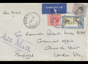 Bahamas: 1950 Air Mail Nassau to London