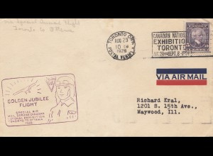 Canada: 1928: Golden Flight Jubilee Toronto to Ottawa