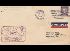 Canada: 1928: Golden Flight Jubilee Toronto to Ottawa, sent to Maywood