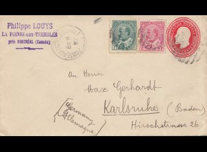 Canada: 1907: La Pointe-aux-Trembles/Montreal to Karlsruhe Germany