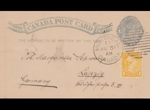 Canada: 1912: Montreal Post card to Leipzig