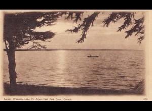 Canada: post card Sunset Waskeiu Lake