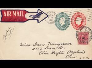 Canada: 1931: Ottawa to Ohio - Air Mail
