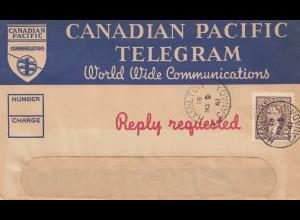 Canada: 1941: Telegram Hamilton