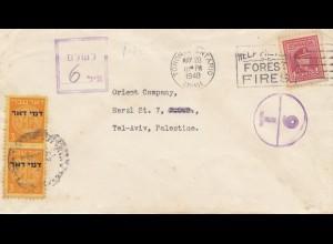 Canada: 1949: Toronto to Tel-Aviav - Taxe