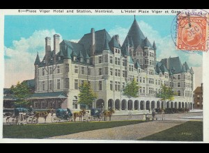 Canada: 1928: Post card Montreal - Viger Hotel to Germany