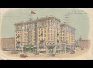 Canada: 1911: post card Fireproof Toronto to Bautzen/Germany