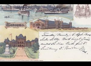 Canada: 1900: post card Toronto to Krefeld/Germany