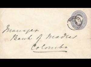 Ceylon: 1895: Nuweraeliyh to Colombo