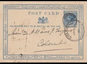 Ceylon: 1895: Neogombo to Colombo