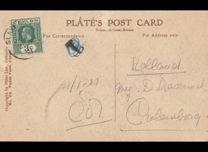 Ceylon: 1921: picture post card