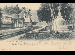 Ceylon: 1904: picture post card Kandy Temple of the Holy Tooth