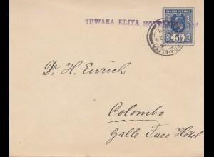 Ceylon: 1908: Nuwara Eliya Hotels to Colombo