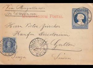 Chile: 1902: Valparaiso to St. Gallen/Switzerland