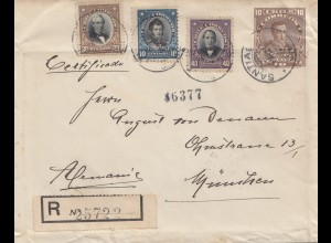Chile: 1913: Registered Santiago to Munich/Germany