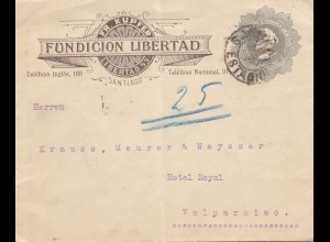 Chile: 1910: Fundicion Libertad Santiago to Valparaiso