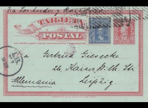 Chile: 1908: post card to Leipzig/Germany