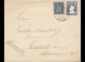 Chile: 1902: letter to Erfurt/Germany - Büchsenmacher - arms