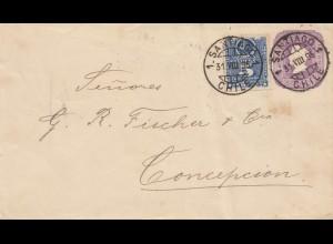Chile: 1895: letter Santiago to Concepcion