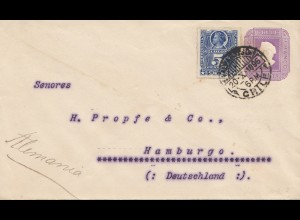 Chile: 1896: letter Valparaiso to Hamburg