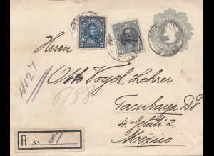 Chile: 1912: Registered letter Puerto Month to Tambaya