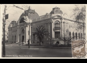 Chile: 1952: photo post card Santiago Palacio to Hamburg