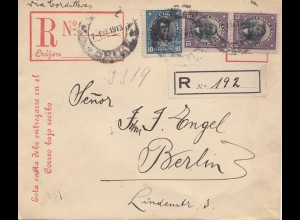 Chile: 1913: Registered Santiago to Berlin