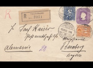 Chile: 1899: Registered Valparaiso to Bamberg/Germany