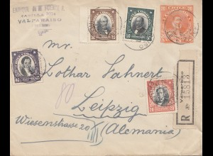 Chile: 1927: Registered Valparaiso to Leipzig