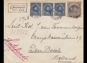Chile: 1912: Registered Loncoche to Den Bosch/NL