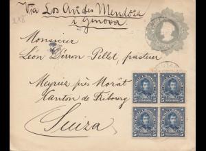 Chile: 1915: Lautarca to Meyriez /Morat via Mendoza and Genova