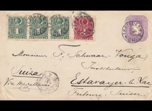 Chile: 1896: Traiguen to Estarayer le Lac/Switzerland