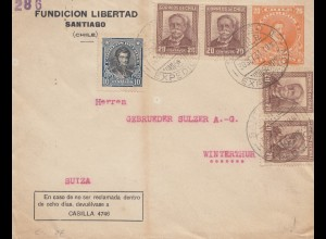 Chile: 1931: Fundicion Libertad Santiago to Winterhtur