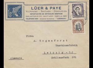 Chile: letter Valpariso to Maschinenfabrik Leipzig