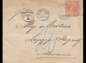 Chile: 1913: letter with Taxe to Leipzig
