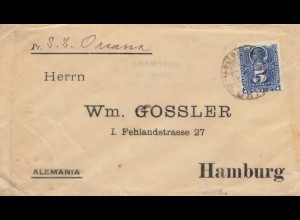 Chile: wrapper S.S. Orcana to Hamburg