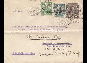 Chile: 1929: Valparaiso Seemannsheim to Berlin