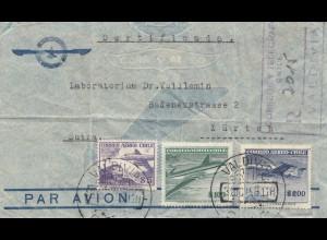 Chile: 1958: Valdivias to Zürich - Registered