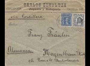 Chile: letter Concepcion to Mergentsheim