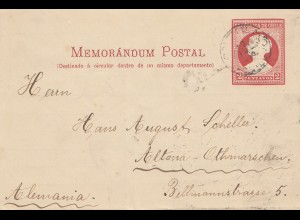 Chile: 1910: Momorandum Postal to Altona