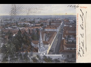 Chile: 1904: post card Santiago to Toulon Sur Allier