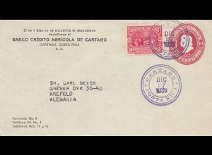 Costa Rica: 1936 Cartago to Krefeld