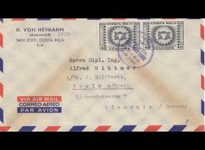 Costa Rica: 1955: San Jose to Köln