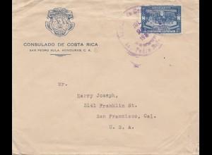 Costa Rica: 1937: San Pedro Sula to San Francisco