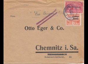 Costa Rica: 1922: San Jose to Chemnitz