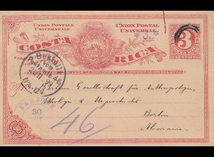 Costa Rica: 1899: Museo national to Berlin