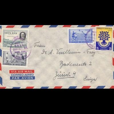 Costa Rica: 1960: San Jose to Zürich/Switzerland