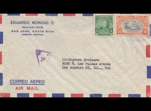 Costa Rica: Air Mail San Jose to Los Angeles