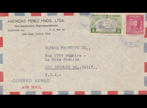 Costa Rica: 1948: Manufacturers San Jose to Los Angeles